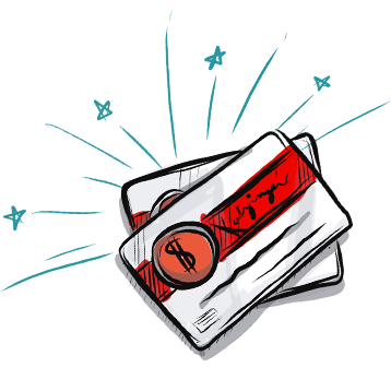gift cards illustration
